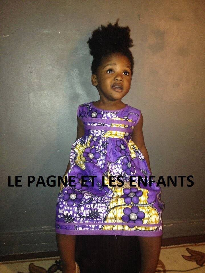 Robe Pagne Pr Enfant Tissu Wax Mode Africaine Enfant