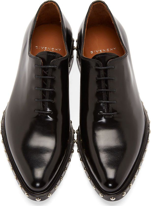 Givenchy Black Studded Leather Shoes