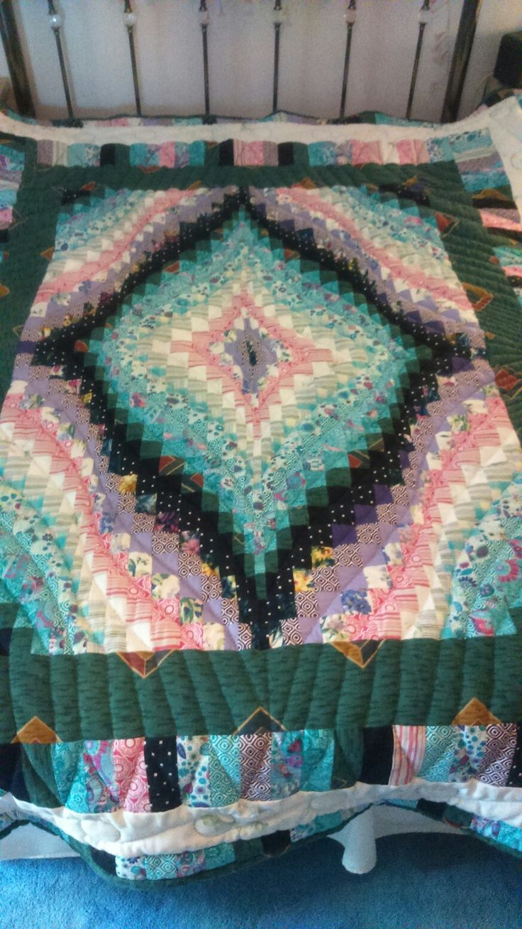 Bargello hand quilted