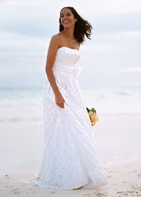 chiffon gown for a contemporary bride.