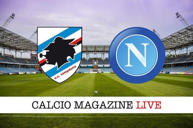 Sampdoria-Napoli risultato in diretta e tabellino in tempo reale