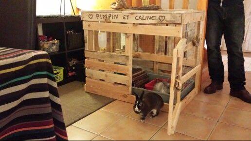 Cabane lapins palettes lapin pinterest animaux for Abreuvoir lapin fait maison