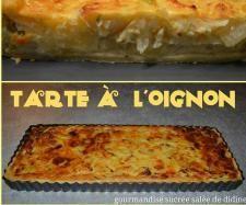 Recette Tarte à l'oignon par amandine passion momo - recette de la catégorie Tartes et tourtes salées, pizzas
