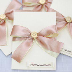 Изысканное и простое в исполнении приглашение на свадьбу))))