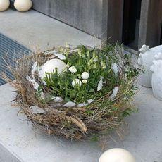 Osterdeko: Natürliche Osternester mit Frühlingsblumen :: BLOOM's