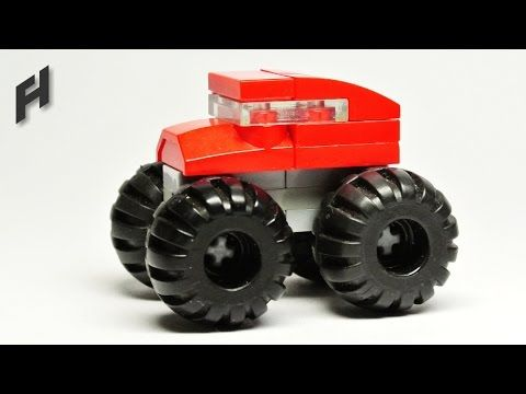 How to Build the Microscale Lego Monster Truck (MOC) - YouTube