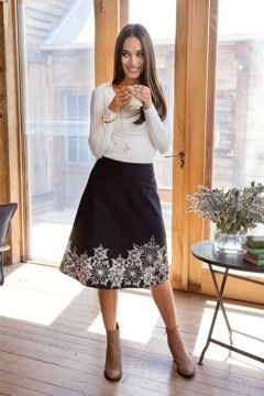 that bird label Adele A Line Skirt - Womens Knee Length Skirts - Birdsnest Online Store