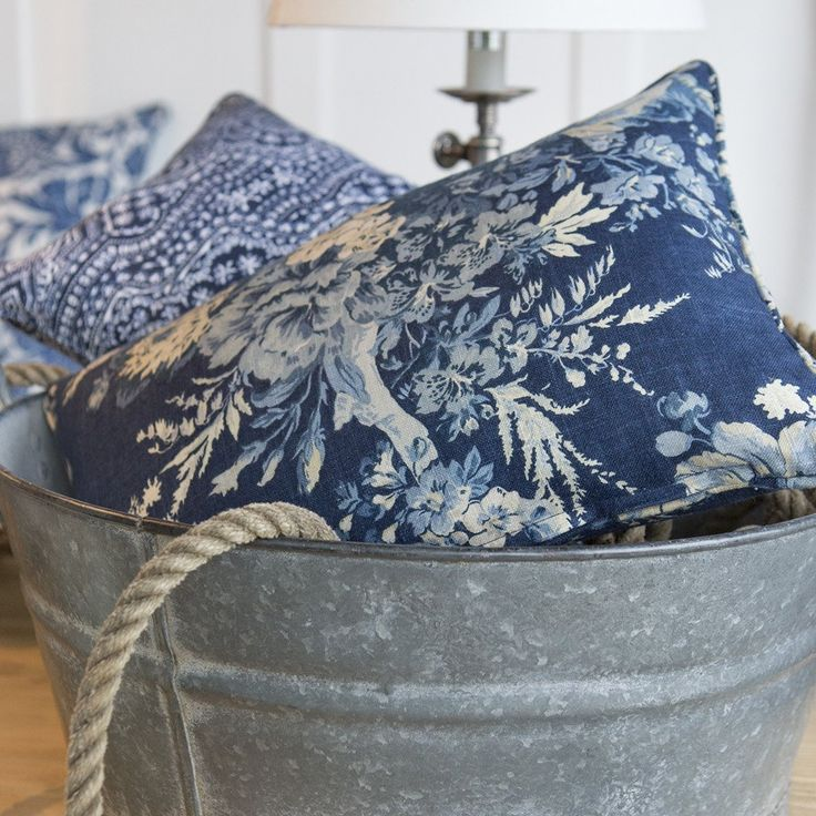 Bouquet Indigo Cushions - Handmade in Australia for the Tara Dennis Store
