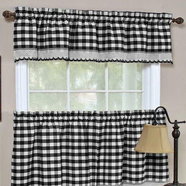 Haylee Rod Pocket Tier Pair Joss Main Valance Curtains Custom Drapes