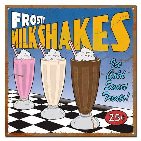 Old Signs | Vintage Milkshake Metal Sign (999-00073)