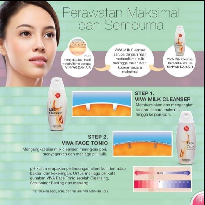 Viva Milk Cleanser Dan Face Tonic Untuk Jerawat
