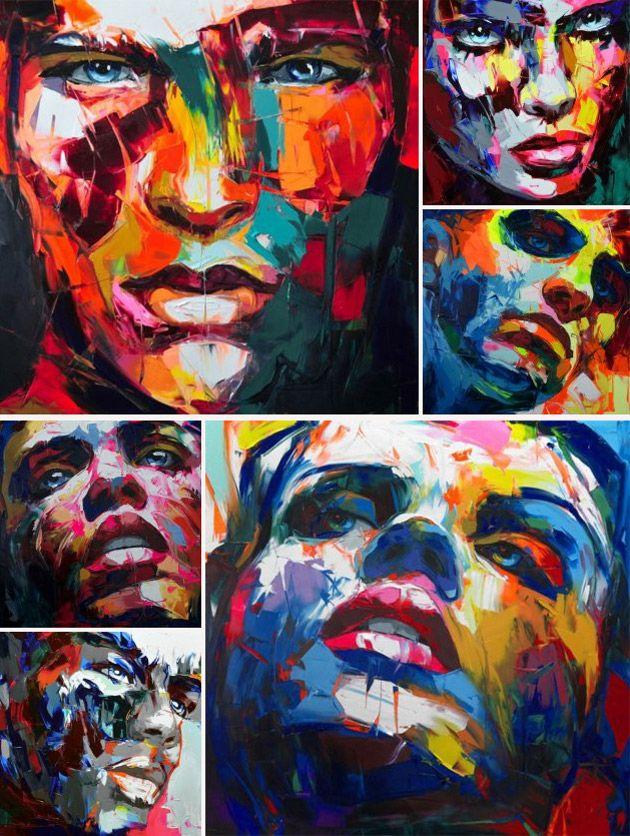 Francoise Nielly – Malerei & Kunst - modern abstrakt farbenfroh