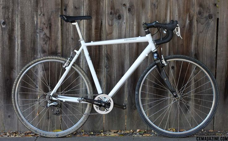 "The ""cheap bike,"" built around a brand-new generic Easton Ultralight frame. ©Cyclocross Magazine"