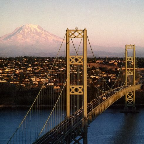 """Tacoma, Washington is named after the nearby Mount Rainer, which was originally called Mount Tacoma or Mount Tahoma. Tacoma is known as the """"city of Destiny"""" because it is home to the Northern Pacific Railroad"""