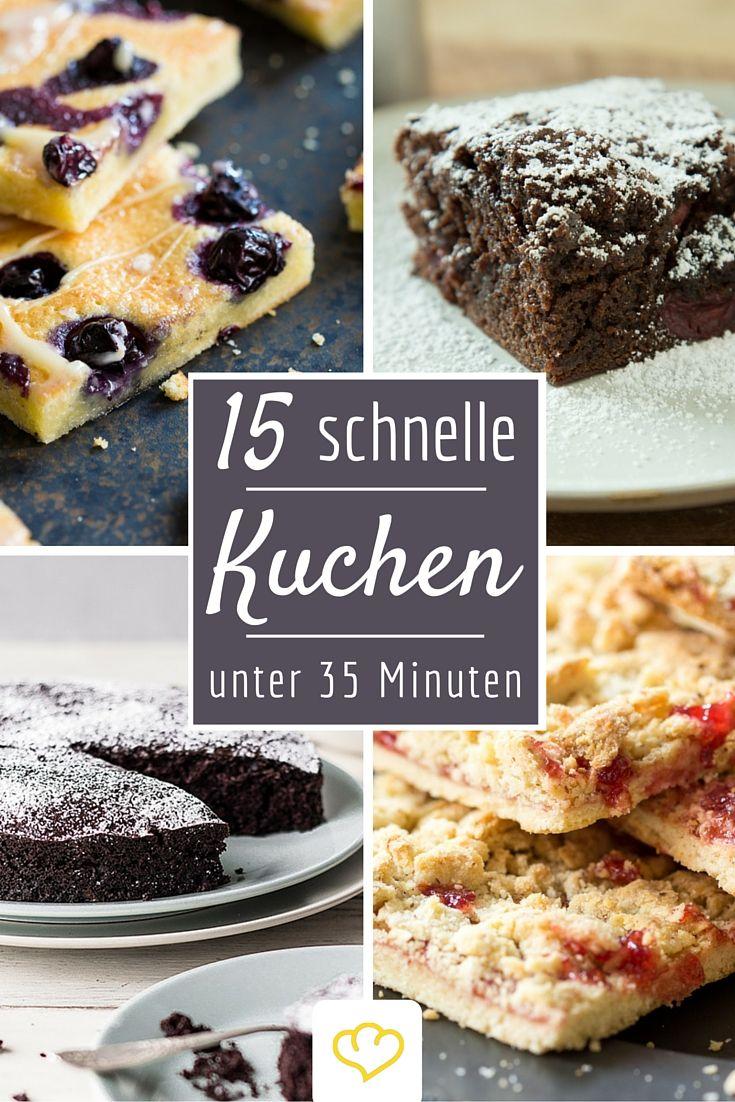 Für plötzlichen Kuchenhunger: 15 Kuchen für die du nicht ewig in der Küche stehen musst! Auch perfekt, wenn sich spontan Besuch ankündigt!