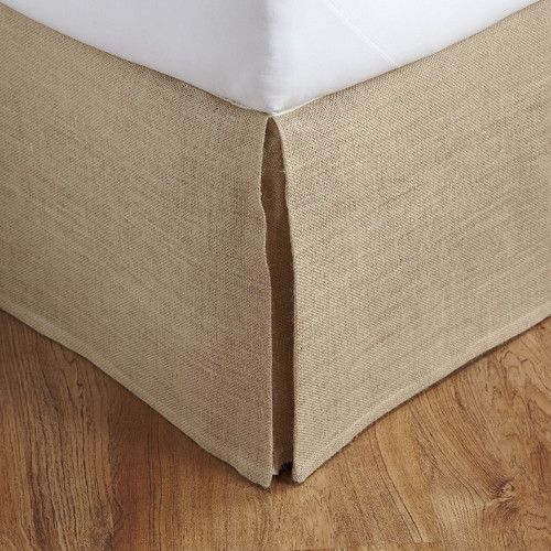 Found it at Wayfair - Herrington Burlap Bed Skirt
