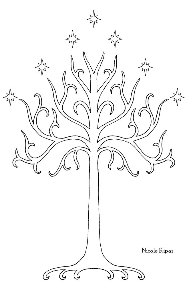 Tree of Gondor stencil