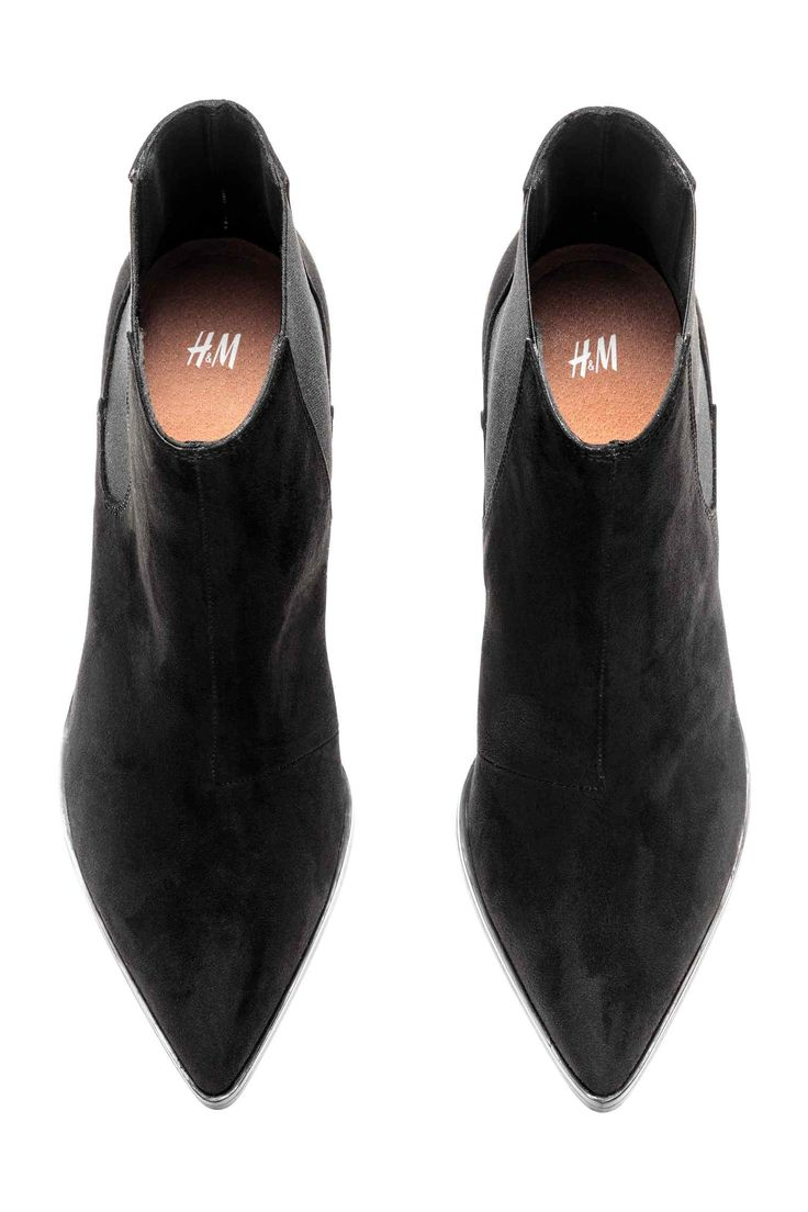Ankle boots with pointed toes - Black - Ladies | H&M GB