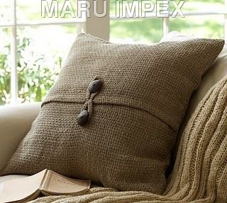 Coconut shell button pillow