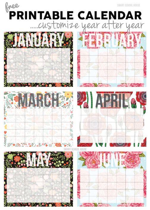 free calendar templates for 2017