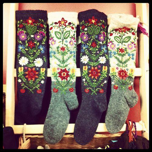 hand-knit woolen socks, Viljandi, Estonia