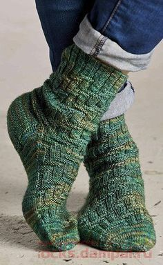 вязаные мужские носки