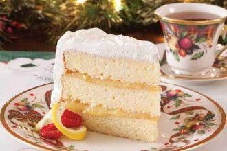 Luscious Lemon Cream Cake