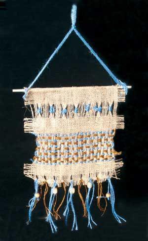 Native American Burlap Weaving Lesson Plan, culture and art fusion