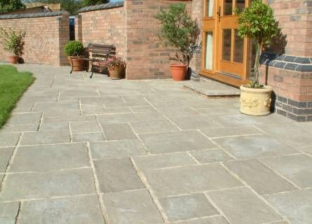 Paving ideas not as sticking as the black tiles small for Courtyard stone landscape