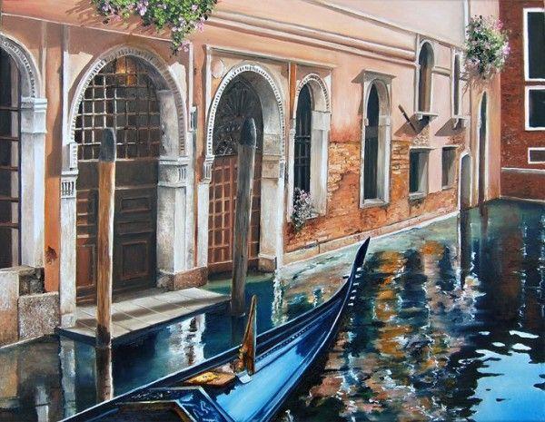 Городские улочки от французской художницы Мари-Клер Умо (23 картины)
