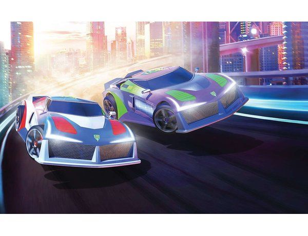 The Micro Scalextric Hyper Cars Set is ideal for the younger racer, 1:64 scale Micro Scalextric offers all the thrills and spills of the full-sized slot car racing world and is the perfect introduction to the action-packed world of Scalextric.