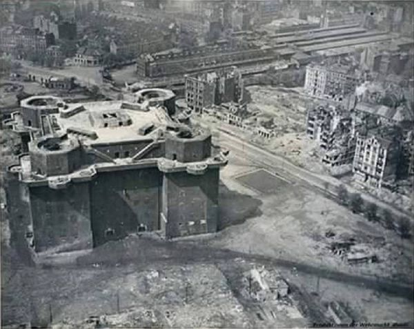 Flak Tower Hamburg - well served its purpose, better to hid....