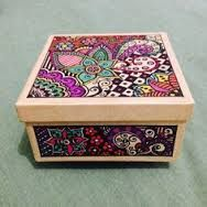 Resultado de imagen para caja pintadas a mano