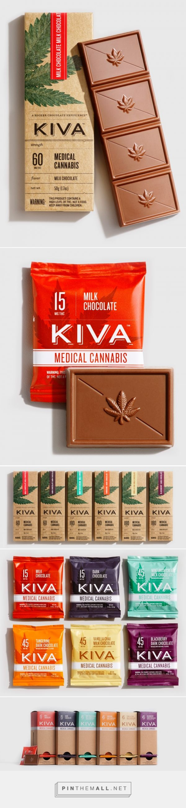 Nathan Sharp revamps Kiva chocolate medical cannabis packaging curated by Packaging Diva PD. Want to try some now?