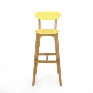 Bar chair Scandinavian style - yellow
