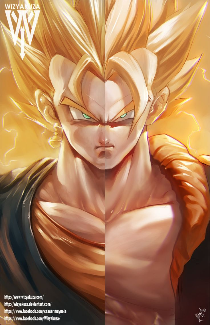 Vegito and Gogeta (Goku and Vegeta) Fusion Split - #DragonBall #DragonBallZ #DBZ