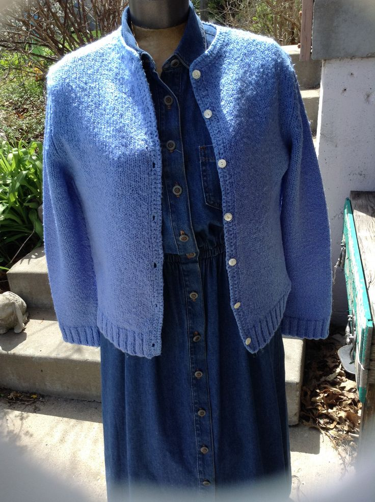Vintage Hipster kitsch 70s ladies blue cardigan sweater size medium free domestic shipping by mamasunbear2 on Etsy