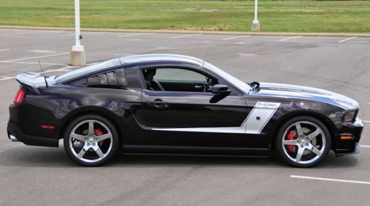 Black Cherry 2010 Roush   Ford Mustang Coupe ...