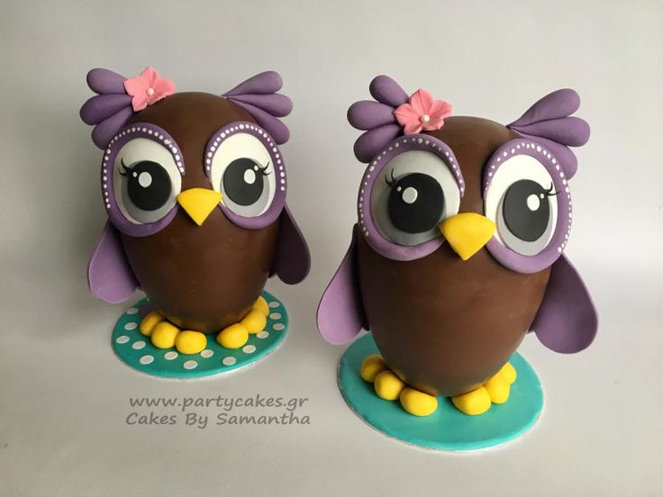 Owl Easter Eggs by Cakes By Samantha (Greece)