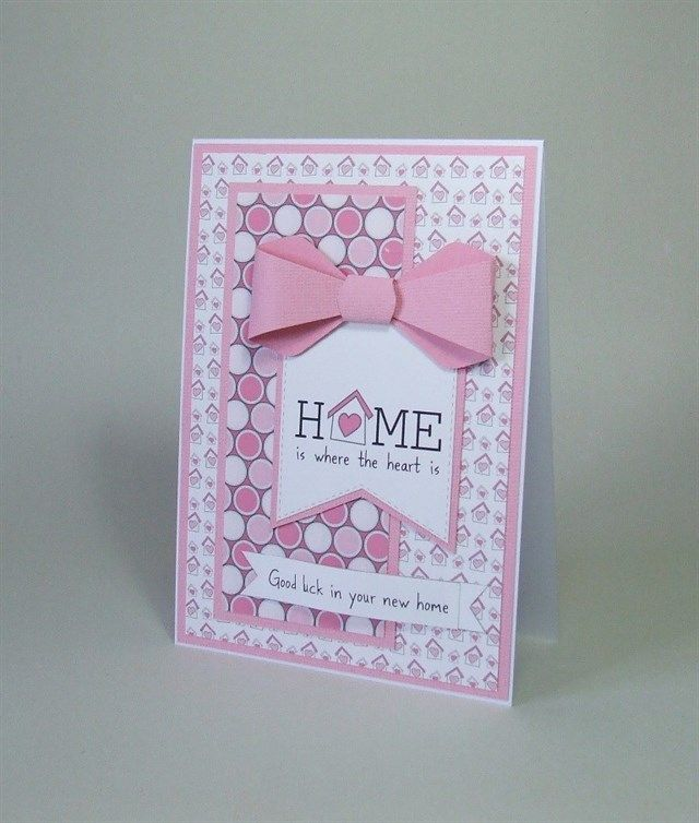 New Home handmade card.