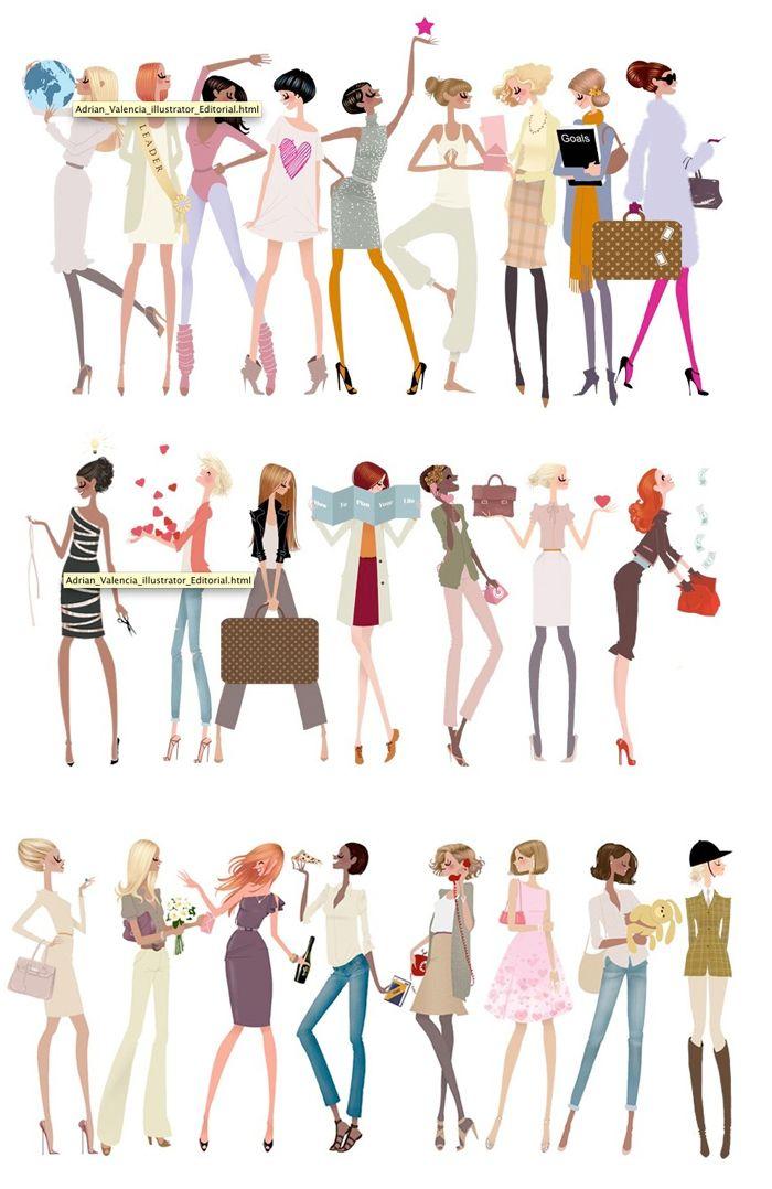 Every King of Girls #illustration / Ogni tipo di Ragazza #illustrazione - Art by Adrian Valencia