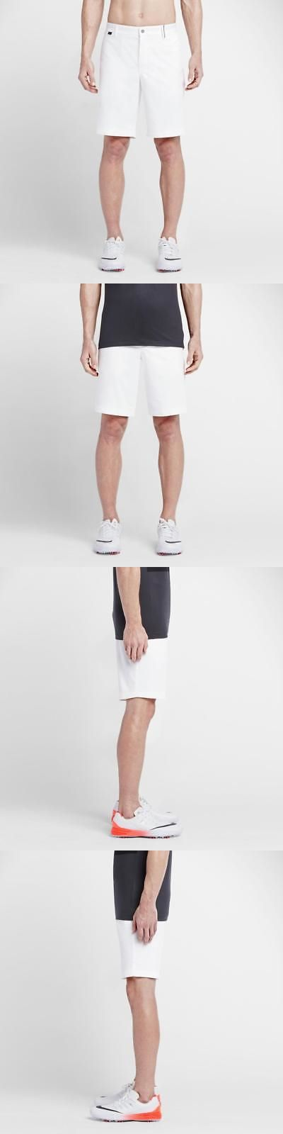 Shorts 181139: New $80 Nike Golf Men S Modern Fit Washed Shorts 10 White 725710-100 Sz 32 -> BUY IT NOW ONLY: $35.99 on eBay!