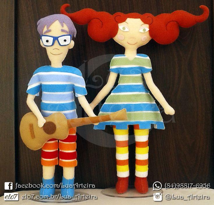 Bonecos Palavra Cantada de feltro 30cm. Tags: feltro, felt, bonecos, personagens, palavra, cantada, artesanato, handmade, diy