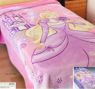 #ٍSter 200 #princess #design #blanket #spanish #new_collection 2014 #bedding #kid's_blanket #hometouchps #Home_Touch