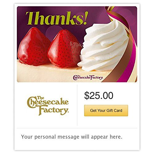 The Cheesecake Factory Thanks Gift Cards  Email Delivery *** Find out more about the great product at the image link.Note:It is affiliate link to Amazon.