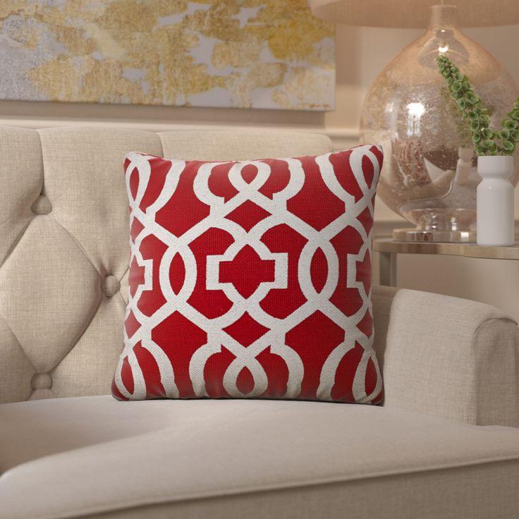 Barrault Geometric Jute Throw Pillow by House of Hampton