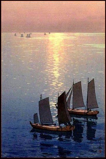 Mer Scintillante © Hiroshi Yoshida, 1926