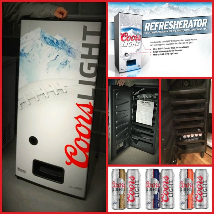 Rare Coors Light Silverbullet Refresherator Talking