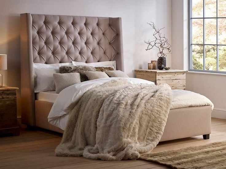Melt Into The Arthur Tall Bed. With Stunning Headboard Features Winged  Sides And Button Detailing