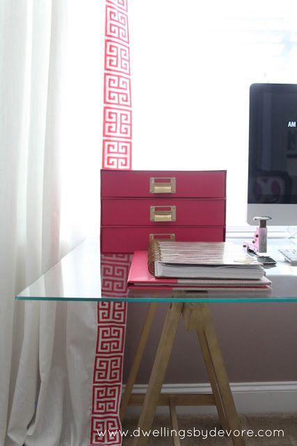 Dwellings By Devore Updating Ikea Ritva Curtains With Greek Key Trim Work Can Be Fun